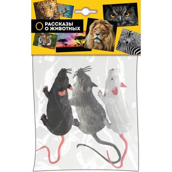 Купить Игрушка Мышь , 18 см (3 штуки), Играем Вместе, Фигурки животных