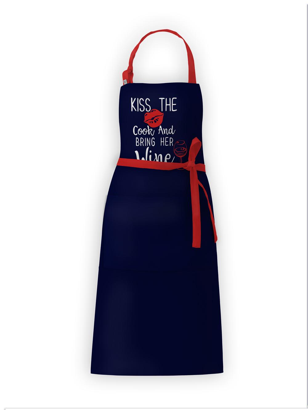 Фартук текстиль Вино синий IQ Dekor 1761710