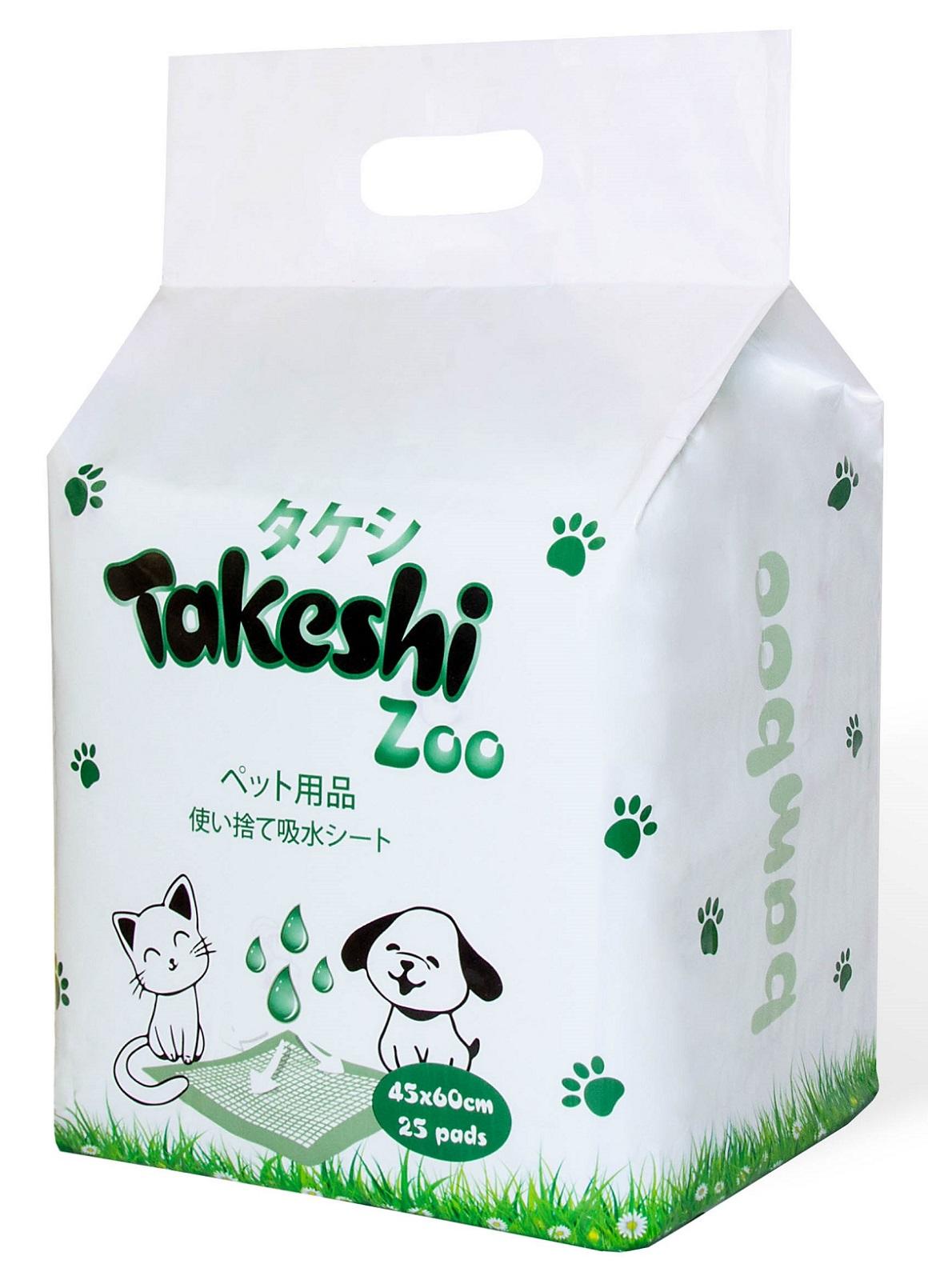 Пеленки для животных Takeshi Zoo Bamboo, гелевые
