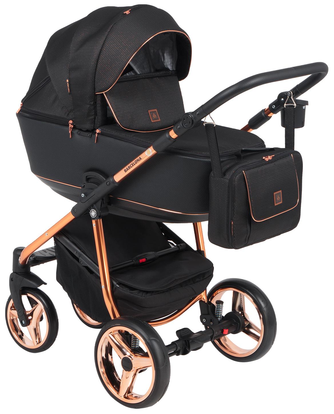 Купить Коляска 3 в 1 Adamex Barcelona special edition BR-603 цвет черный жаккард, Детские коляски 3 в 1