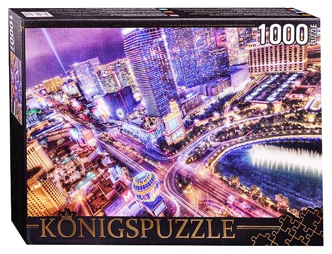 Пазл Konigspuzzle Ночной Лас-Вегас АЛК1000-6480 1000 деталей