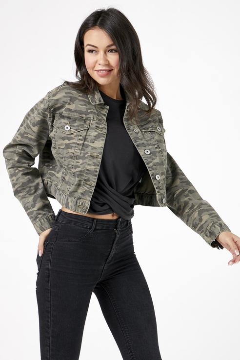 Джинсовая куртка женская Tom Farr T W6900.47 зеленая S