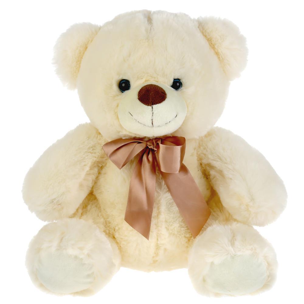 Игрушка мягкая Мульти-Пульти Медведь бежевый с бантом 40см