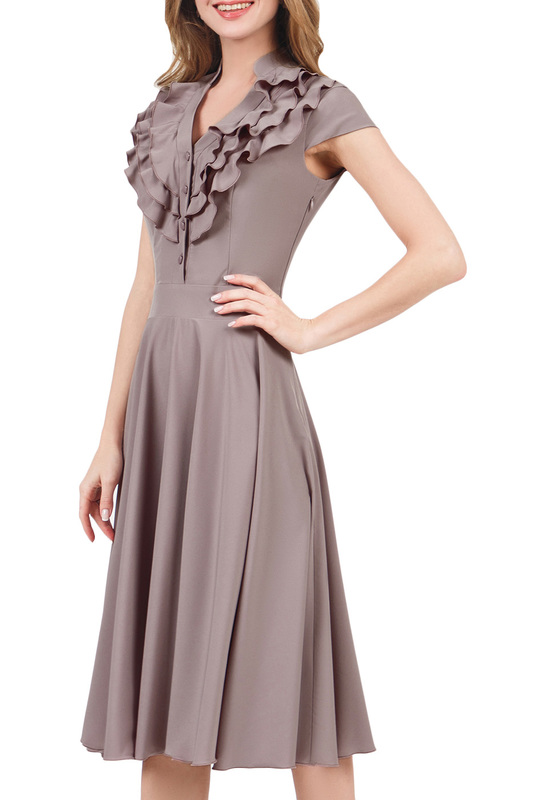 Платье женское MARICHUELL MPL00060L(FERNANDA) бежевое 52 RU фото