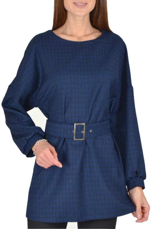 Блуза женская Viserdi 1952 синяя 52 RU фото
