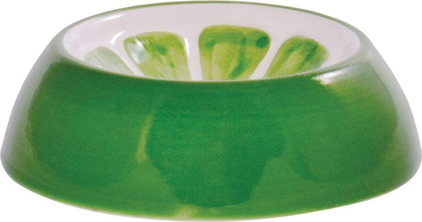Миска для грызунов КерамикАрт Лайм, керамическая, зеленая,