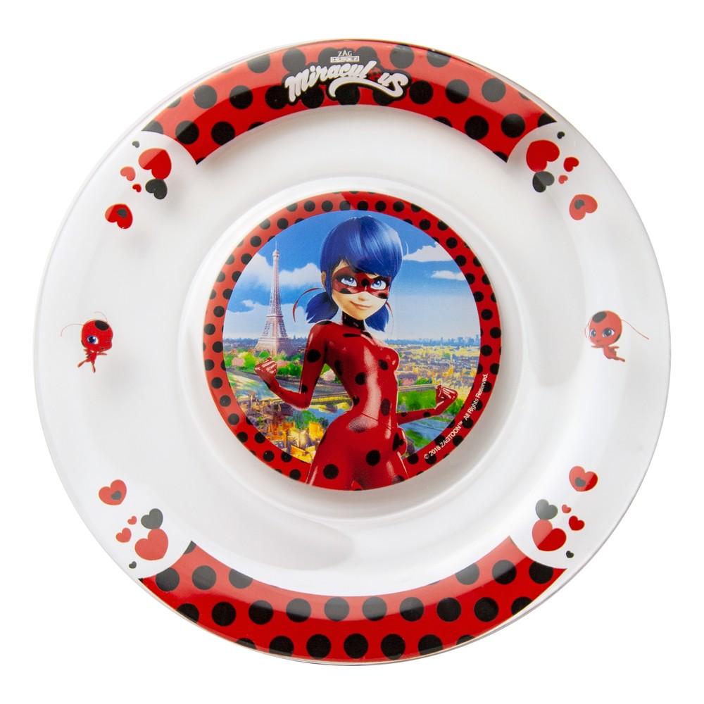 Тарелка ND Play Леди Баг и Супер Кот. Париж-сердечки, 19,5 см, стекло