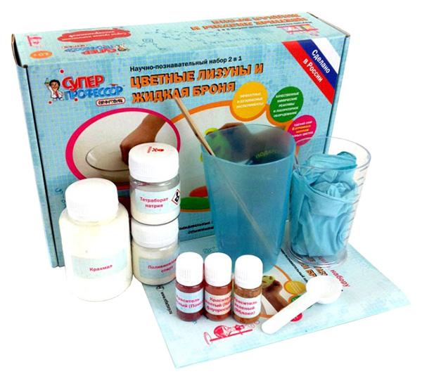 Купить Набор для исследования Qiddycome Цветные лизуны и Жидкая броня 2 в 1 X005нт, Лучшие эксперименты, Наборы для опытов