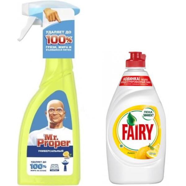 Средство для мытья посуды Fairy 500 мл и спрей  450 мл