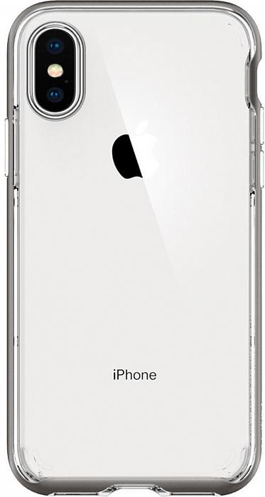 Чехол Spigen Neo Hybrid Crystal (063CS24924) для iPhone X/Xs (Gunmetal)