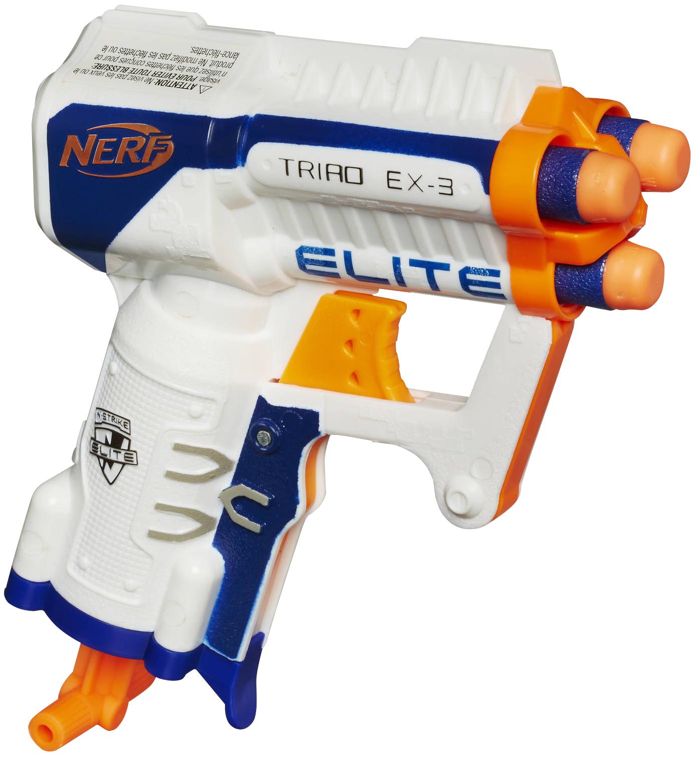 Бластер Hasbro НЕРФ - Elite Triad, белый
