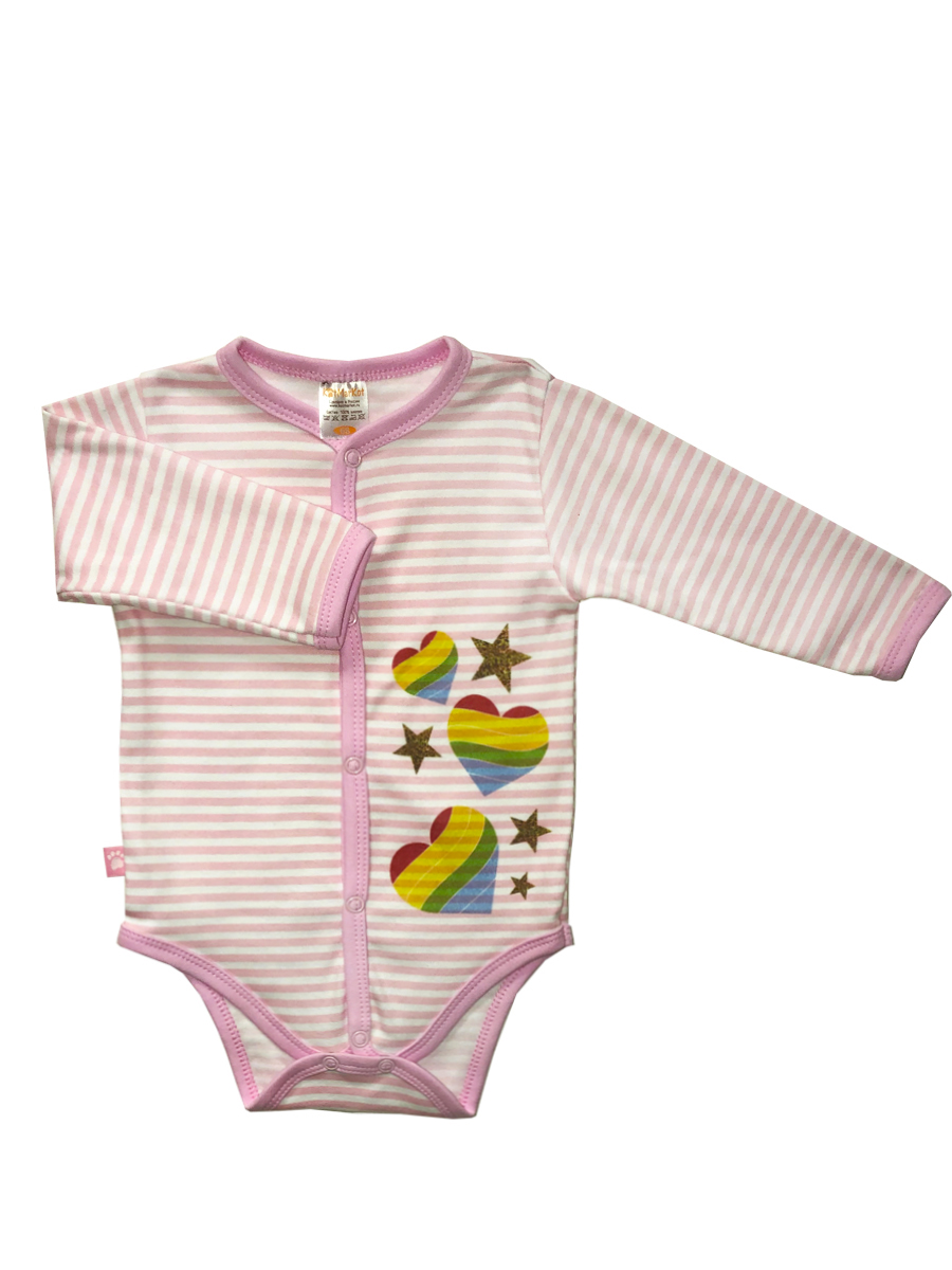 Купить Боди КотМарКот длинный рукав Ладошки р.86, Боди и песочники для малышей