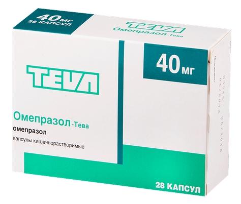 Омепразол-Тева капсулы 40 мг 28 шт.