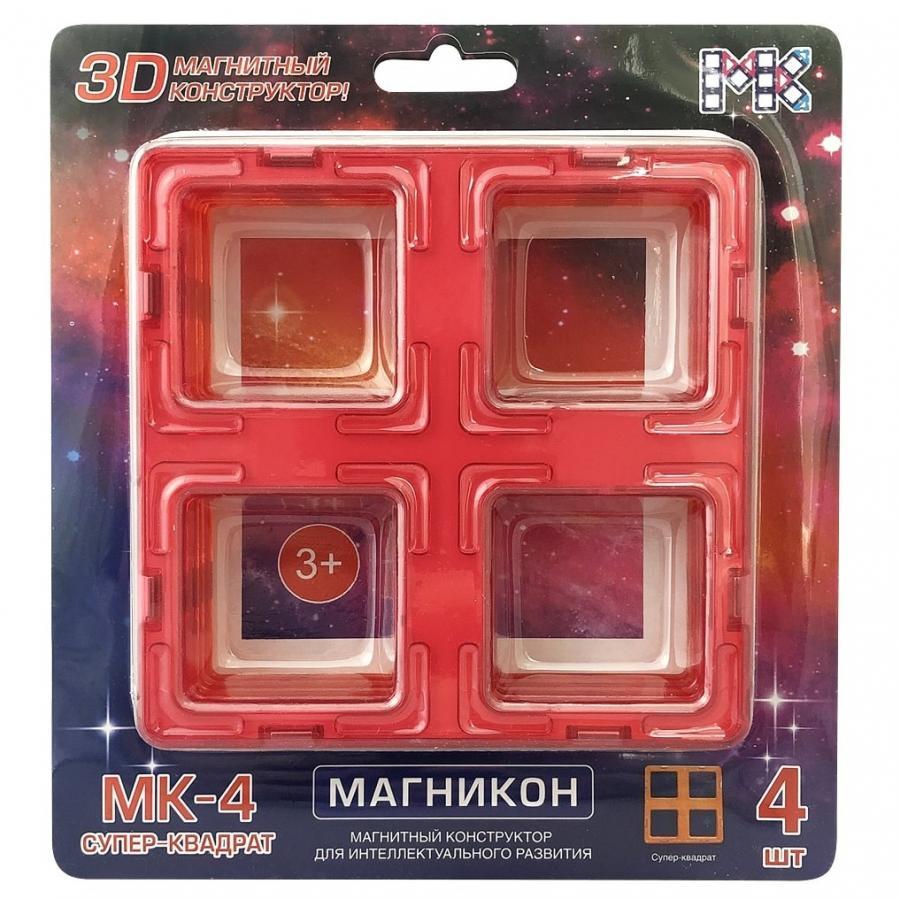 Купить Конструктор магнитный Магникон МК-4-СК Супер квадраты, МАГНИКОН, Магнитные конструкторы