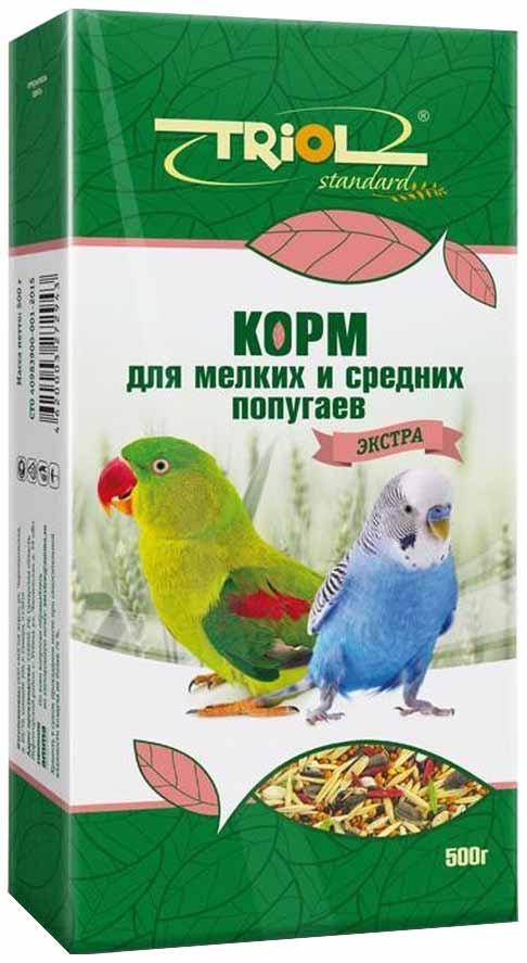 Корм Тriol Standard Экстра для мелких и средних попугаев 500 г