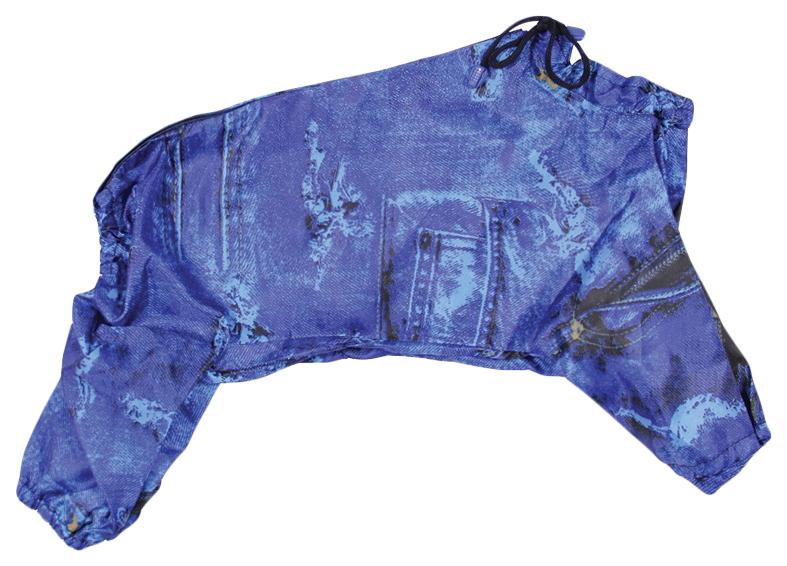 Комбинезон для собак Gamma унисекс, синий, длина спины 36 см
