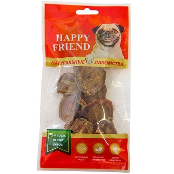 Лакомство для собак HAPPY FRIEND Семенники говяжьи для мелких пород 40г.