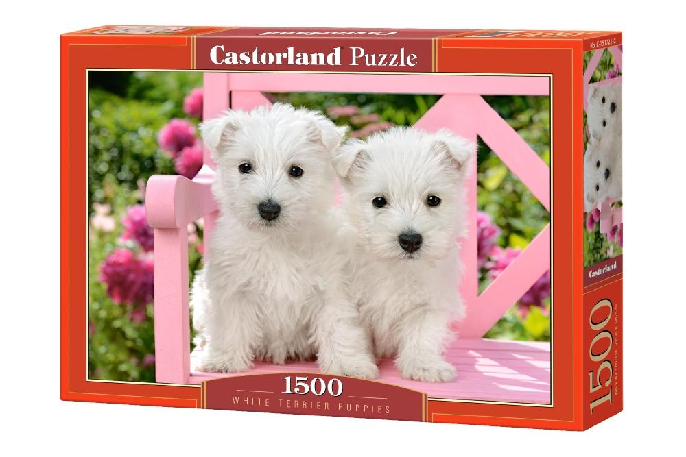 Купить CASTORLAND Пазл Два белых щенка, 1500 элементов C-151721, Пазлы