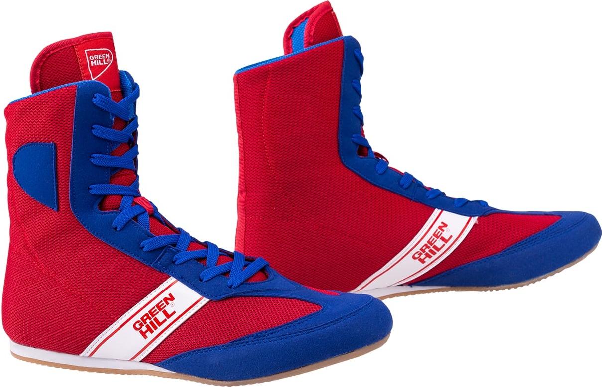 Обувь для бокса Green Hill Special LSB-1801, высокая, синий/красный (36)