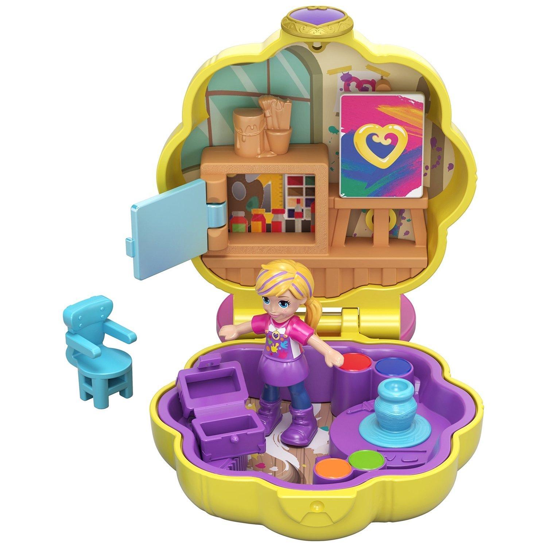 Купить Игровой набор Mattel Набор игровой Polly Pocket компактный Творческая мастерская Полли,