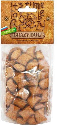 Лакомство для собак Crazy Dog Хрустящие подушечки, для всех пород, ягненок, 71 г