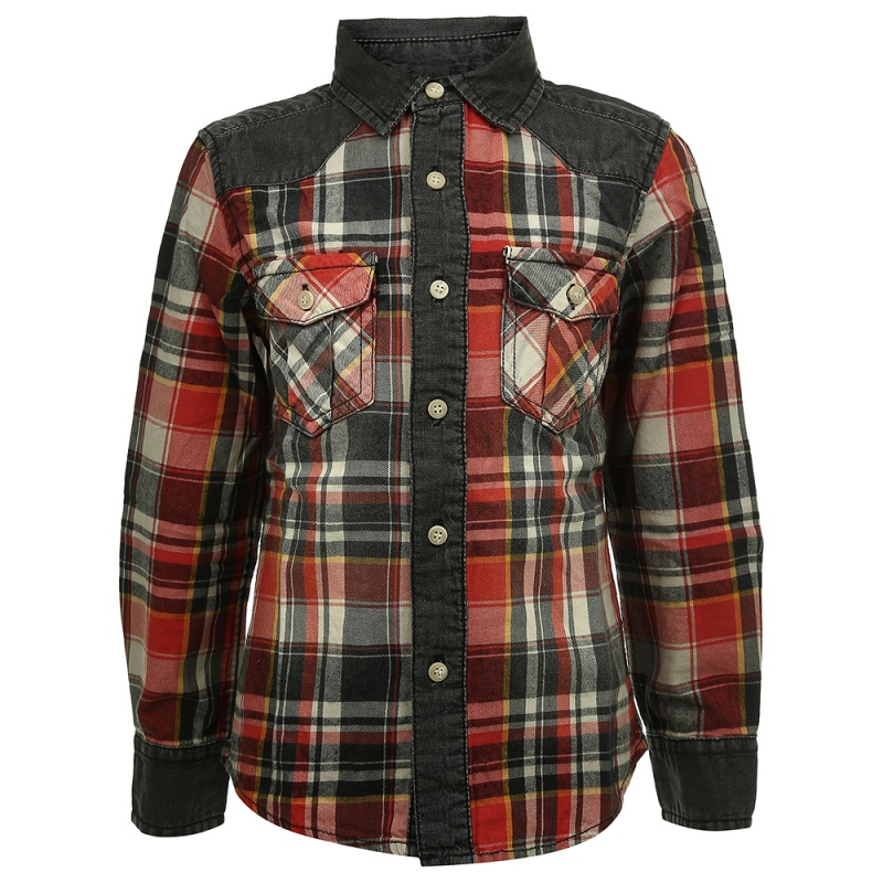 Купить Рубашка MEK Красный р.128, Детские блузки, рубашки, туники