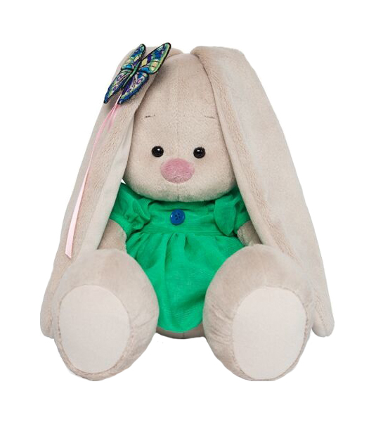 Мягкая игрушка Budi Basa Зайка Ми в зеленом платье с бабочкой SidS-267