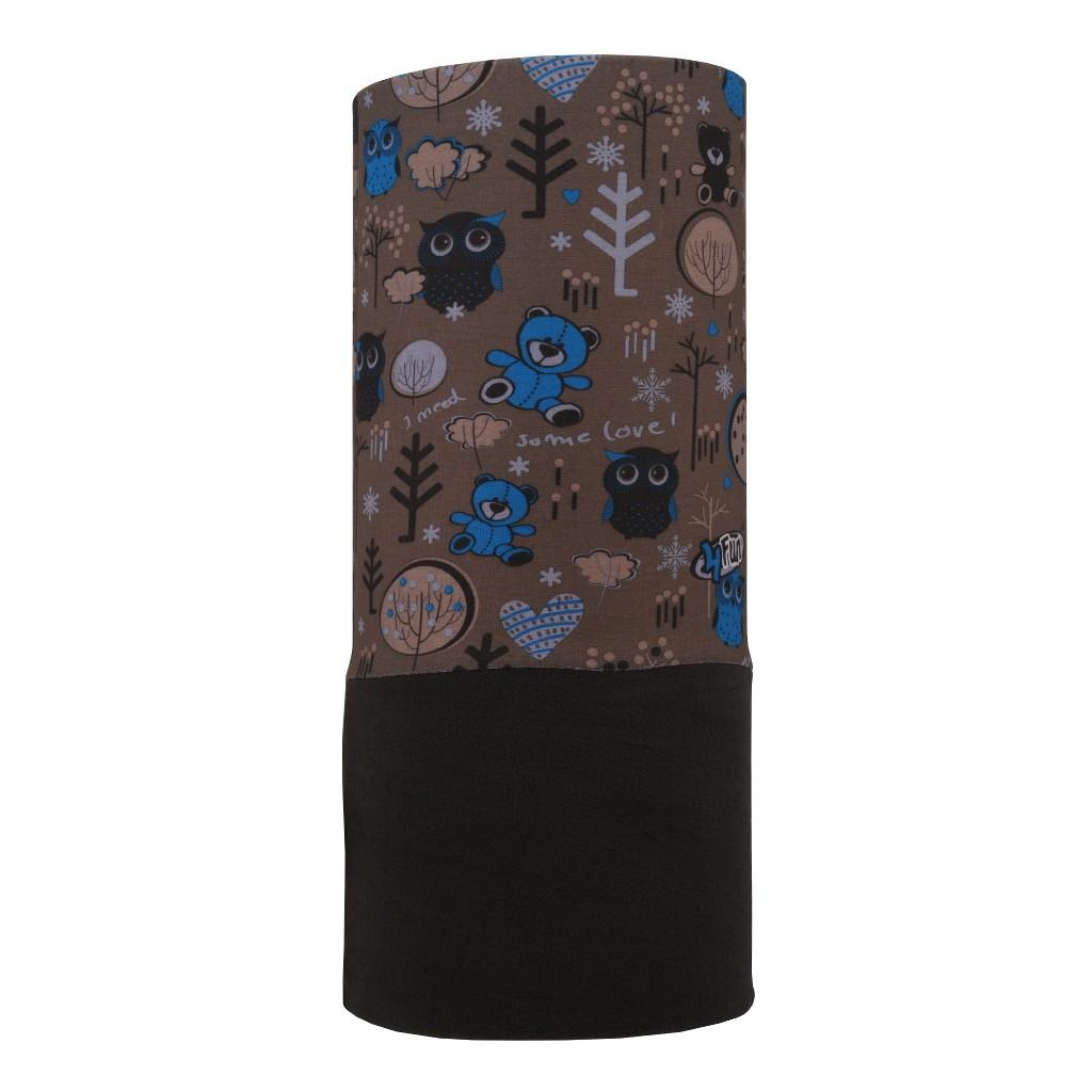 Бандана 4FUN Polartec, garden brown, One Size