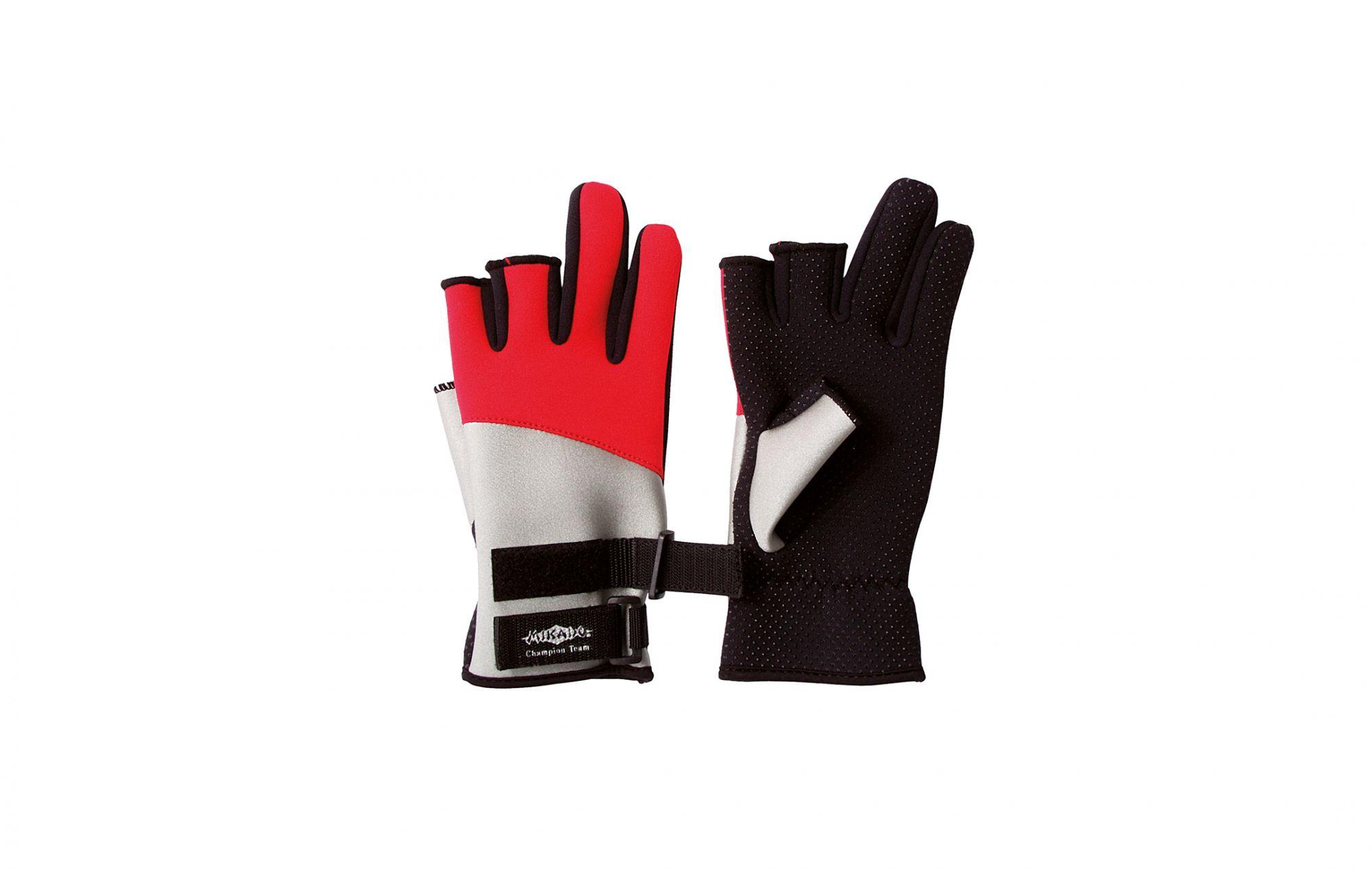 Перчатки мужские Mikado UMR 01, красные/черные/белые, M