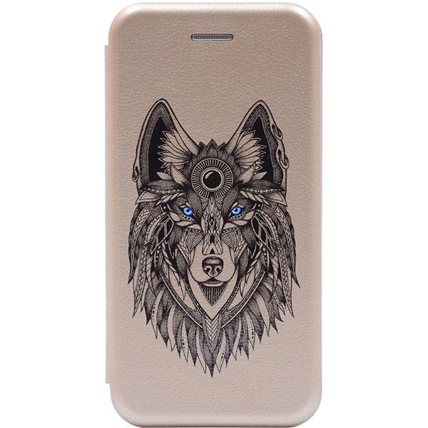 Чехол Gosso Cases для Apple iPhone 8/7/7S «Grand Wolf» Gold