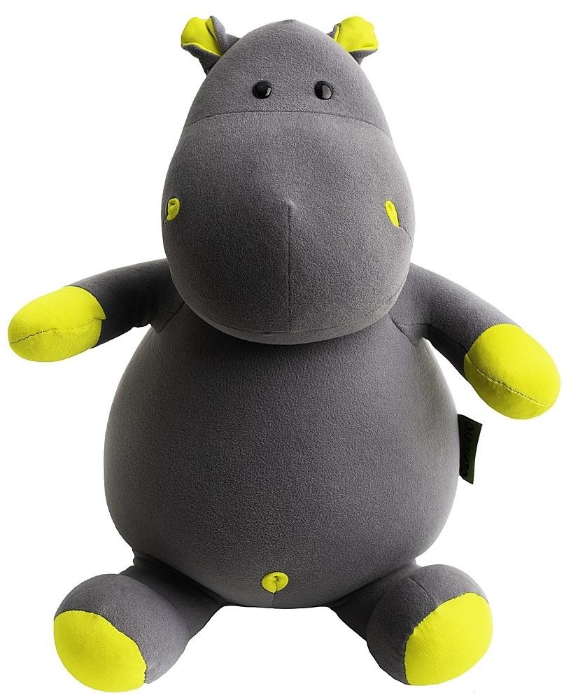 Игрушка-подушка Gekoko Бегемот малыш Няша жёлтый A086