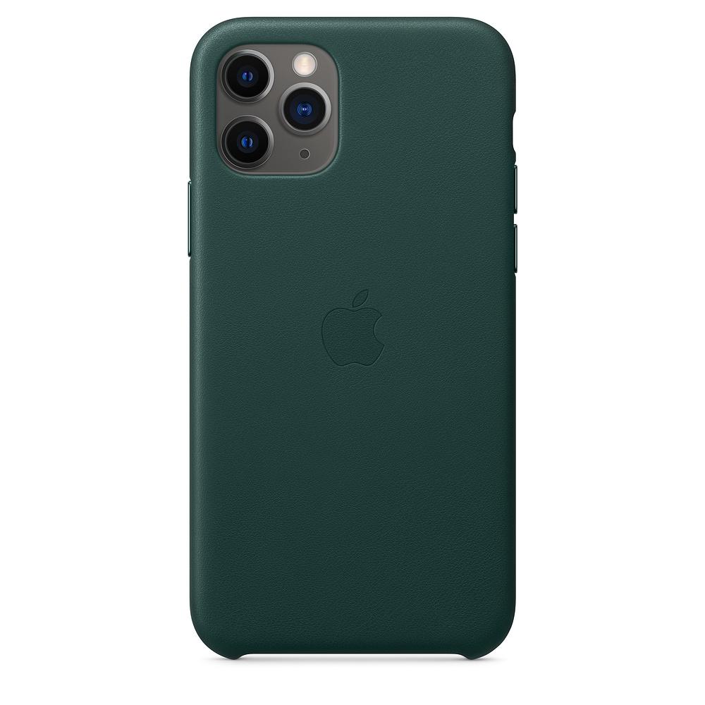 Чехол Apple для iPhone 11 Pro Leather Case - Forest Green