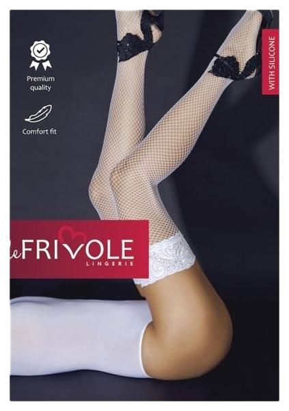 Чулки Le Frivole в сетку с ажурной резинкой на силиконе фото