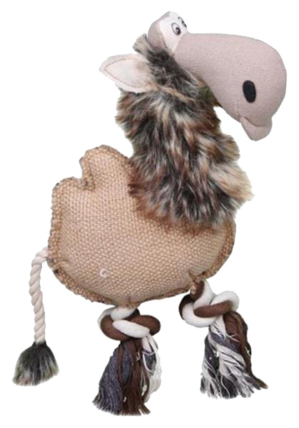 Мягкая игрушка для собак DEZZIE Верблюд, разноцветный, длина 28 см