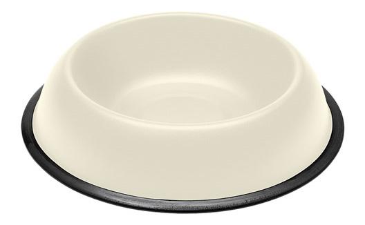 Одинарная миска для собак Ferplast, металл, белый,