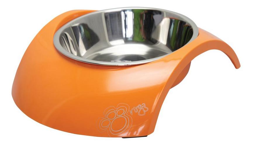 Одинарная миска для собак Rogz, сталь, оранжевый,