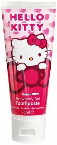 Купить Детская зубная паста-гель DR. FRESH Hello Kitty с флюоридом, с клубничным вкусом, 75 мл,