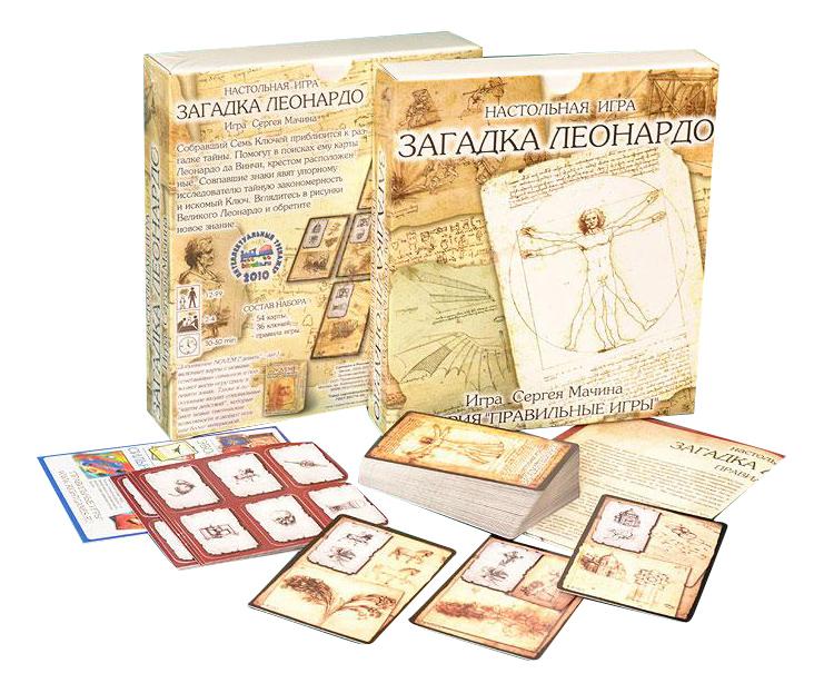Купить Семейная настольная игра Правильные игры Загадка Леонардо, Правильные Игры,