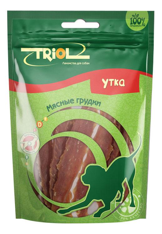 Лакомство для собак Triol, мясные грудки из утки, 70г