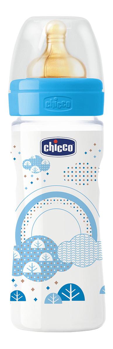 Детская бутылочка Chicco Well-Being Boy (с 2 мес) 250 мл голубой