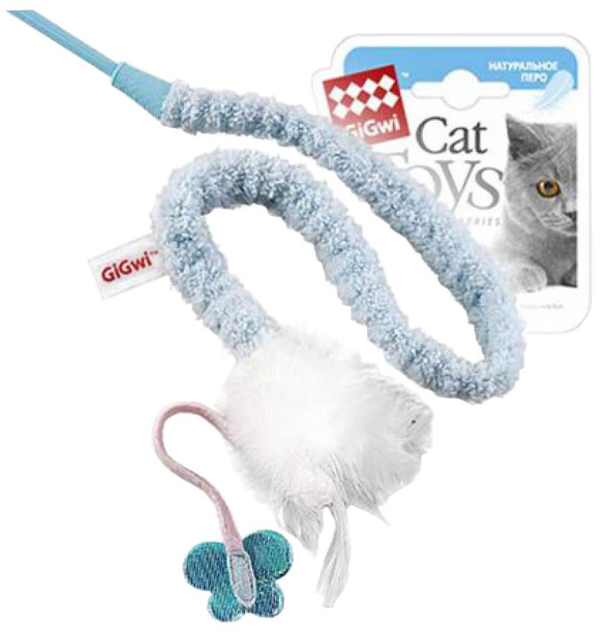 Дразнилка для кошек Пластик, Перо, Текстиль, 73см фото