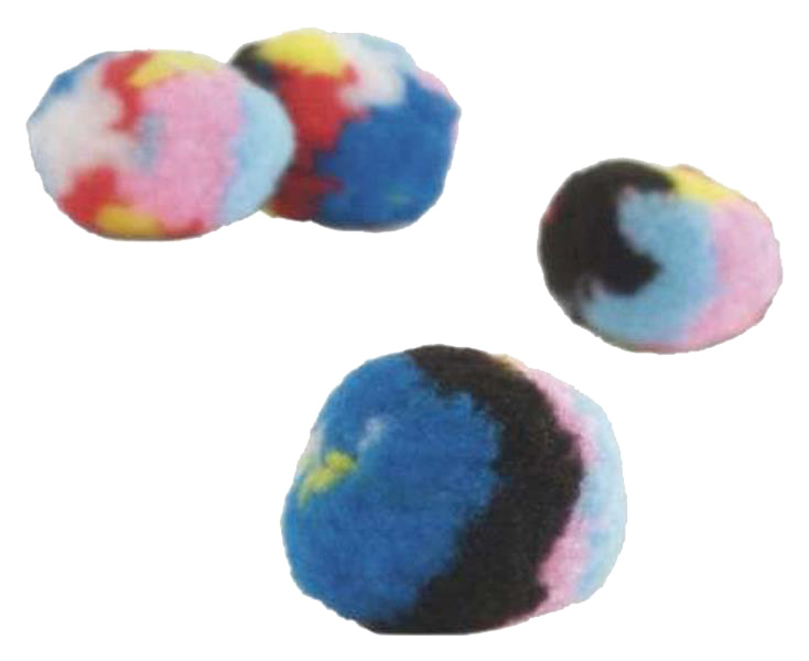 Мяч для кошек Beeztees Текстиль с кошачьей мятой 4см 4 шт.