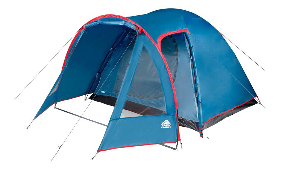 Палатка Trek Planet Texas четырехместная синяя/красная