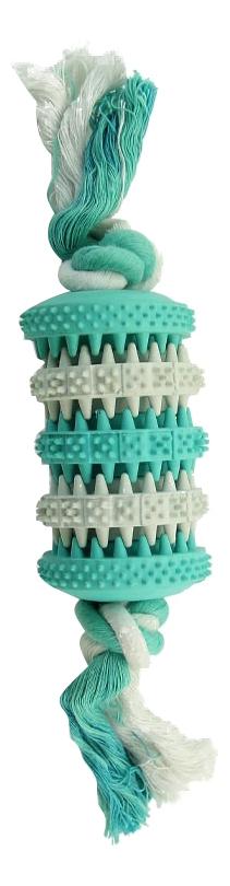 Жевательная игрушка для собак Triol Dental Кость из резины, бело-голубая, 9 см