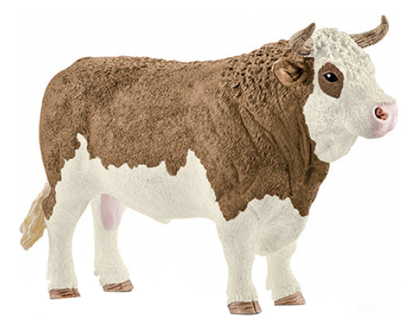 Купить Фигурка Симментальский бык Schleich Farm World 13800, Игровые фигурки