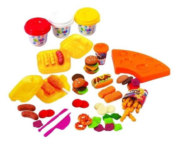 Купить Набор для лепки из пластилина Playgo Закусочная, Play&Go, Лепка