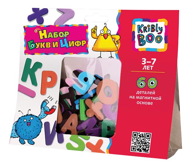 картинка Развивающая игрушка KriBly Boo Набор магнитных букв и цифр от магазина Bebikam.ru