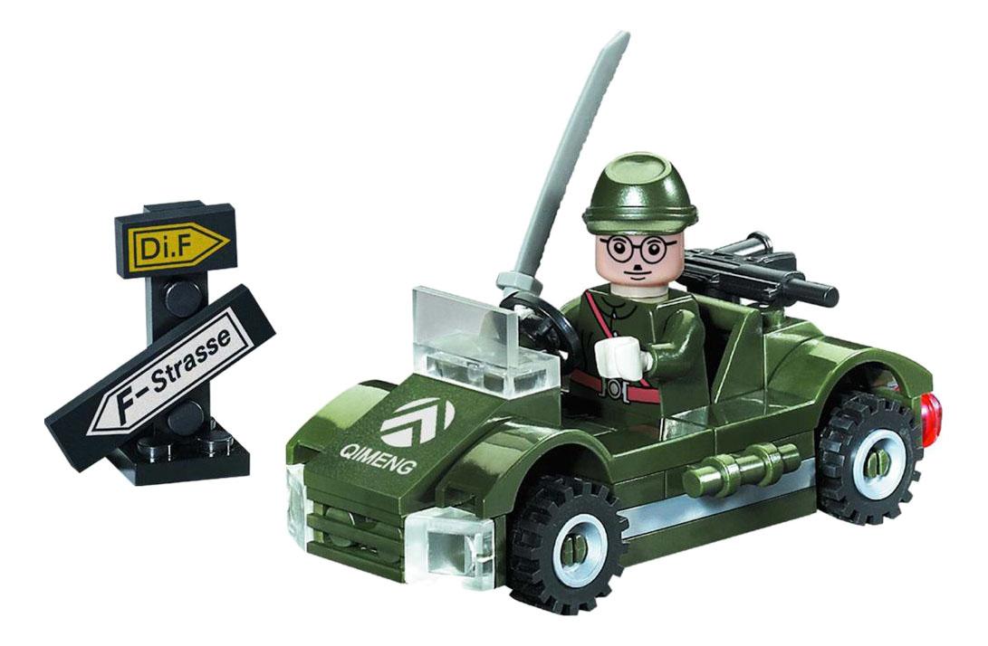 Конструктор пластиковый Brick Военная машина с фигуркой фото