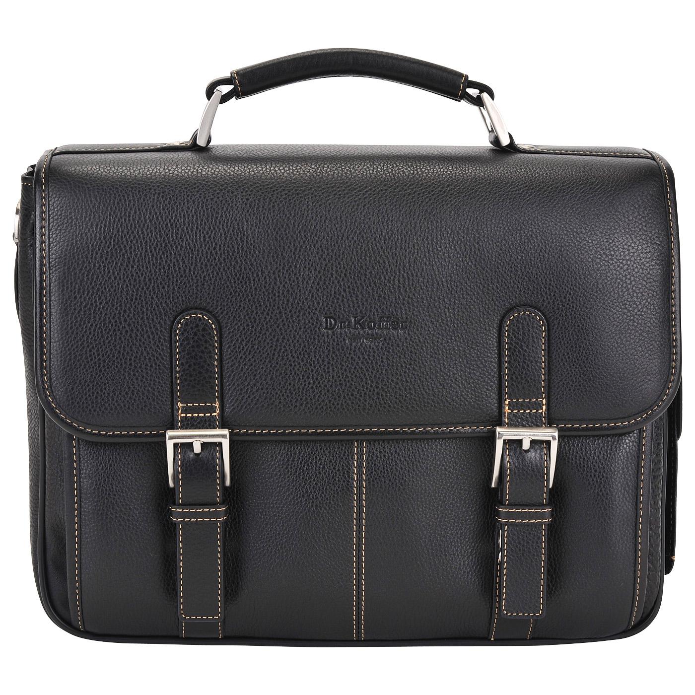 Портфель мужской кожаный Dr. Koffer B393170-02-04 черный фото