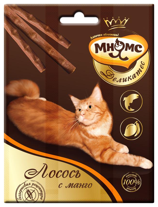 Лакомство для кошек Мнямс Деликатес, лосось, манго, 1шт, 0,012кг